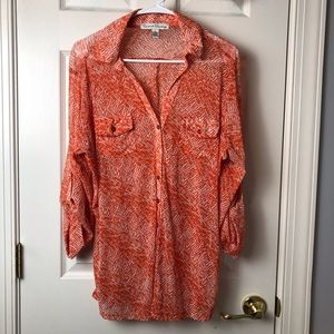 French Laundry XL 3/4 Sleeve Sheer Blouse